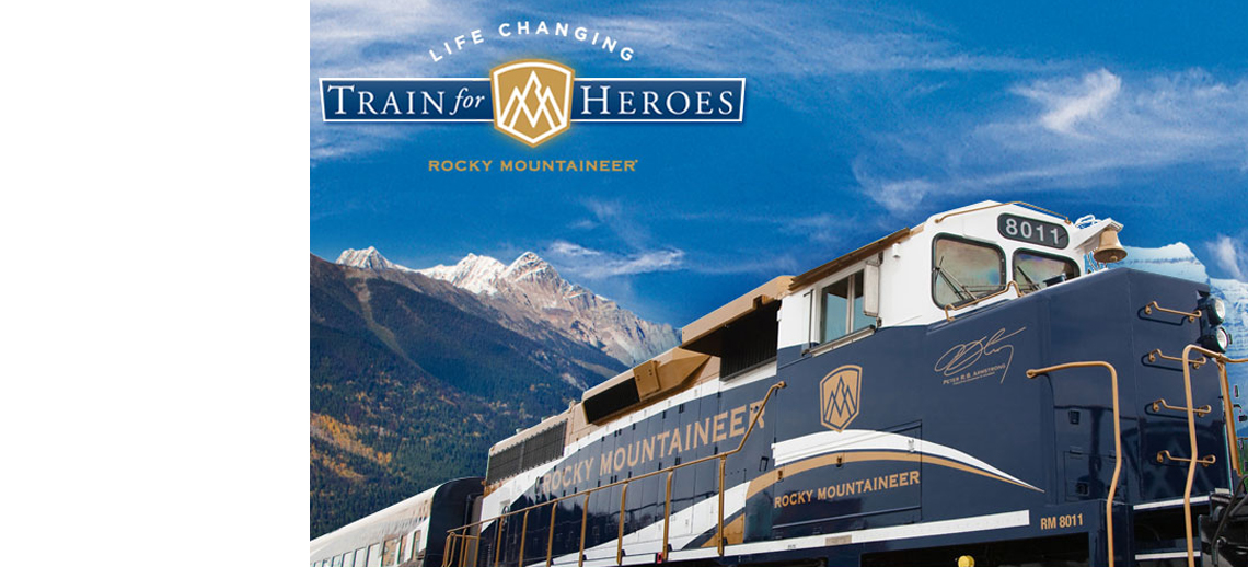 Rocky Mountaineer's Hero Train