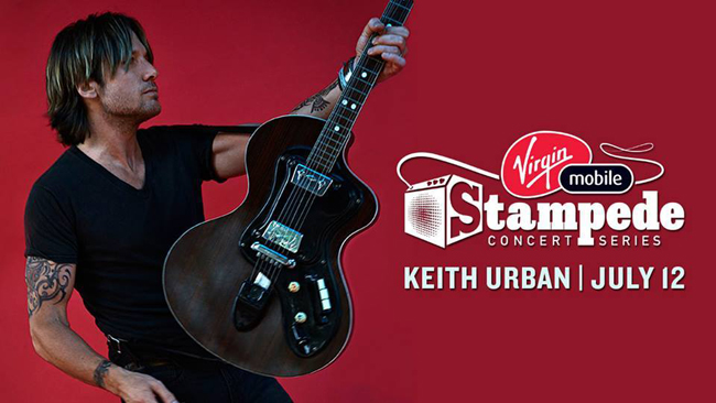 Keith Urban at the 2014 Calgary Stampede
