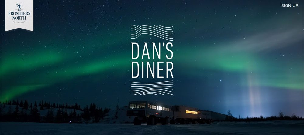 Gourmet dining under the Northern Lights at Dan's Diner